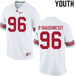 Youth Ohio State Buckeyes #96 Michael O'Shaughnessy White College Football Jerseys 543073-895