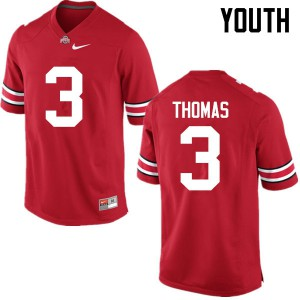 Youth Ohio State Buckeyes #3 Michael Thomas Red College Football Jerseys 247471-216