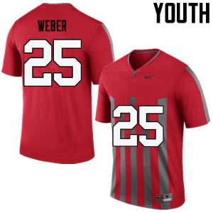 Youth Ohio State Buckeyes #25 Mike Weber Throwback College Football Jerseys 878972-247