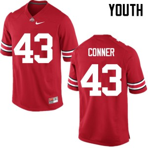 Youth Ohio State Buckeyes #43 Nick Conner Red College Football Jerseys 800262-254