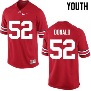 Youth Ohio State Buckeyes #52 Noah Donald Red College Football Jerseys 242721-931