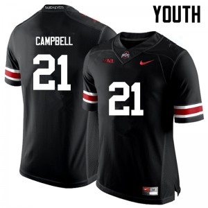 Youth Ohio State Buckeyes #21 Parris Campbell Black College Football Jerseys 183305-683
