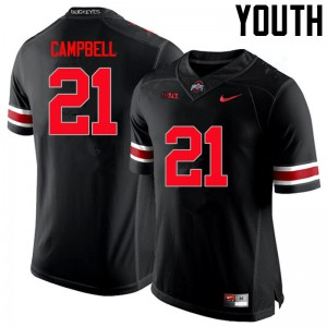 Youth Ohio State Buckeyes #21 Parris Campbell Black College Football Jerseys 134434-227