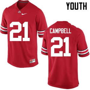 Youth Ohio State Buckeyes #21 Parris Campbell Red College Football Jerseys 514127-418
