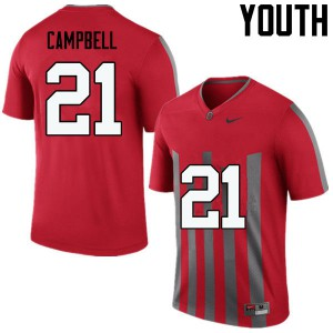 Youth Ohio State Buckeyes #21 Parris Campbell Throwback College Football Jerseys 922883-800