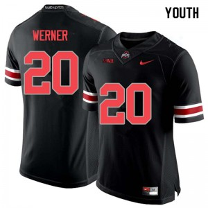 Youth Ohio State Buckeyes #20 Pete Werner Blackout College Football Jerseys 620100-874