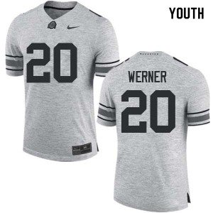 Youth Ohio State Buckeyes #20 Pete Werner Gray College Football Jerseys 596789-248