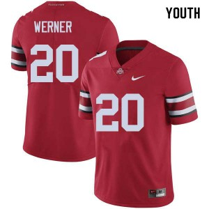 Youth Ohio State Buckeyes #20 Pete Werner Red College Football Jerseys 244265-683
