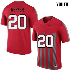 Youth Ohio State Buckeyes #20 Pete Werner Throwback College Football Jerseys 328885-555