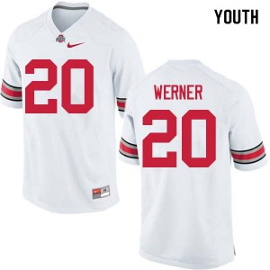 Youth Ohio State Buckeyes #20 Pete Werner White College Football Jerseys 438286-267