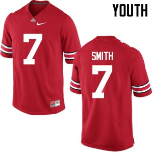 Youth Ohio State Buckeyes #7 Rod Smith Red College Football Jerseys 892156-465