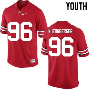 Youth Ohio State Buckeyes #96 Sean Nuernberger Red College Football Jerseys 202879-304