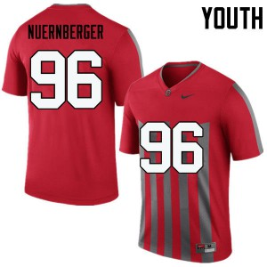 Youth Ohio State Buckeyes #96 Sean Nuernberger Throwback College Football Jerseys 218035-234