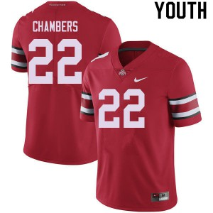 Youth Ohio State Buckeyes #22 Steele Chambers Red College Football Jerseys 958301-581