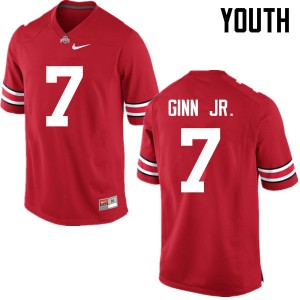 Youth Ohio State Buckeyes #7 Ted Ginn Jr. Red College Football Jerseys 788677-828