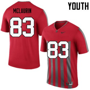 Youth Ohio State Buckeyes #83 Terry McLaurin Throwback College Football Jerseys 274462-368