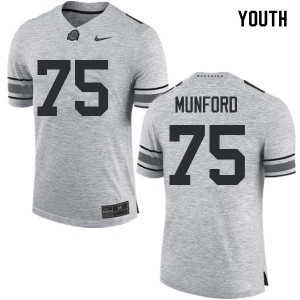 Youth Ohio State Buckeyes #75 Thayer Munford Gray College Football Jerseys 470318-876