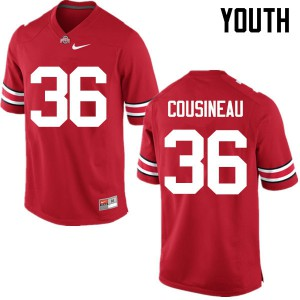 Youth Ohio State Buckeyes #36 Tom Cousineau Red College Football Jerseys 158239-304