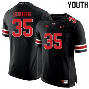 Youth Ohio State Buckeyes #35 Tommy Eichenberg Blackout College Football Jerseys 976820-759