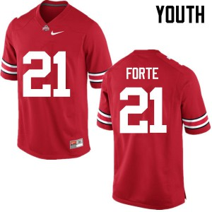Youth Ohio State Buckeyes #21 Trevon Forte Red College Football Jerseys 437006-593