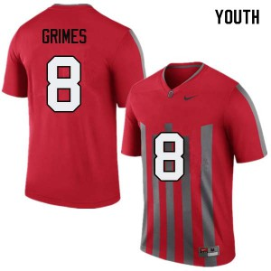 Youth Ohio State Buckeyes #8 Trevon Grimes Throwback College Football Jerseys 304345-559