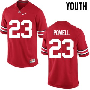 Youth Ohio State Buckeyes #23 Tyvis Powell Red College Football Jerseys 210116-766