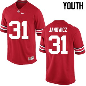 Youth Ohio State Buckeyes #31 Vic Janowicz Red College Football Jerseys 840217-598