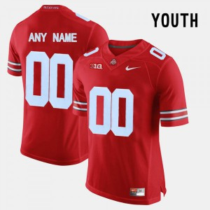 Youth Ohio State Buckeyes #00  Red College Football Jerseys 974936-517